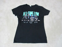 All Time Low Concert Shirt Womens Large Black Green Band Tour Rock Music Ladies