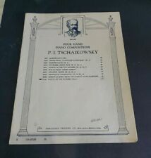 Sheet Music Four Hand Piano Compositions TSCHAIKOWSKY