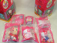 Rare Hello Kitty McDonald's 30th Anniversary Toys w/ Happy Meal Boxes, 2004, NEW