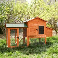 Small Wooden Chicken Coop Backyard Hen House Rabbit Hutch Enclosure Cage Bunny