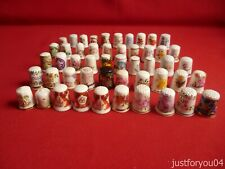 Job lot 50 mixed Flowers,Plants, and More collectors thimbles. Set 2