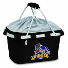 Picnic Time Unisex Metro Basket James Madison University Dukes Print Black Size