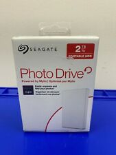 Seagate Portable HDD Backup Or Photo Drive 2TB, White, Powered by Mylio New