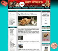 PET SUPPLY STORE Affiliate Website+Amazon+Google+Dropship