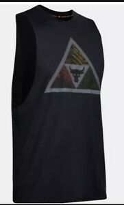 New UA Project Rock MANA TANK TOP MEN NWT BLACK 1351589-001 XL