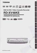 """Owner's manual for Toshiba rd-xv48ke"" -- (English)"