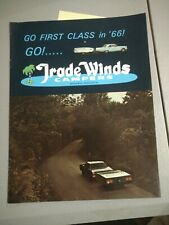 Vintage Sales Brochure: Trade Winds trailers/ campers1966