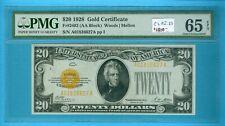 U.S.A: $20 Note 1928 Gold Cert, FR#2402, Grade PMG-65 EPQ.Est:$