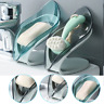 Leaf Shape Soap Holder Box Bathroom Shower Water Draining Non-Slip  Dish Rack