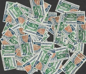Postage Stamps For Crafting: 1960 4c Water Conservation; Multi-Color; 50 Copies