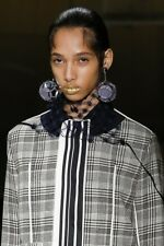 PRADA S/S 2016 RUNWAY Lavender Silver Geometric Globe Drop Clip-On Earrings NIB