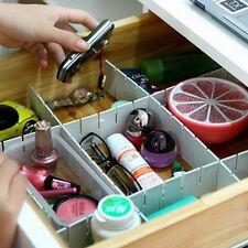 6Pcs Plastic Grid Tidy Drawer Divider Storage Organizer