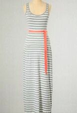 NEW $148 BODEN COTTON BLEND GRAY & IVORY JERSEY STRIPY MAXI DRESS US 14L