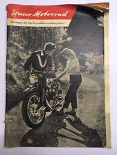 """NSU """"il nostro moto"""" un consigliera per tutti, che presto MOTOCICLISMO vogliono 1955"""