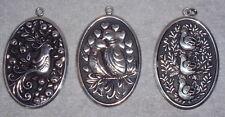 International Sterling 12 Days Christmas Disc Ornament Pendant Medallion Set 3
