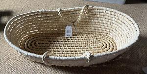 Bloomingdales Badger Basket / Natural Moses Basket 00880 (New With Tags)