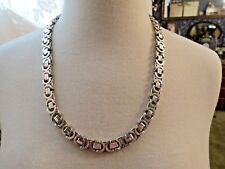 """Sterling Silver Chain Necklace Italy 23.5"""" Long 118 Grams Mariner 10mm Wide Open"""