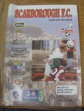 17/10/1998 Scarborough v Hull City [Last League Season] . (Any noticable faults
