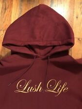 2006 LUSH LIFE Hoodie (Size XL) Maroon Gold Alife SSUR Hundreds