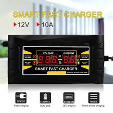 12V 10A Smart Veloce Display LCD Battery Charger Caricabatteria Auto Moto S5Y5