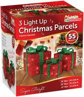 Large Christmas Present Box Santa Parcel LED Lights Under Tree Decorations 55