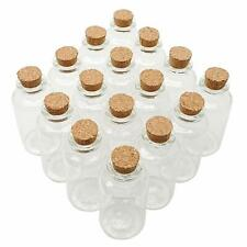 Axe Sickle 36Pcs 20Ml Cork Stoppers Glass Bottles Diy Decoration Mini Glass Bott