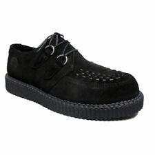 Para Mujeres con cordones subterráneo Wulfrun Creepers Gótico Retro Zapatos Gamuza UK Tamaños 3-8