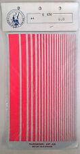TAURO MODEL DECALS FOGLIO DECALCOMANIE STRISCE RED DAY GLO STRIPES ART 408