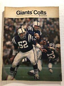 1968 NEW YORK GIANTS vs Baltimore COLTS Program JOHNNY UNITAS Yankee Stadium