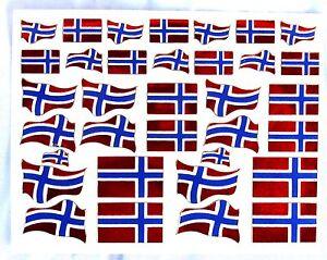 AUFKLEBER Sticker Norwegen norway 36 Stück je Bogen 13x10 cm