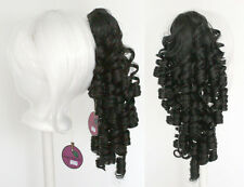18'' Ringlet Curly Pony Tail Clip Black Cosplay Lolita Wig Clip Only NEW