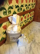 French Armoire Sac avec provence lavande en coton sac en lin.