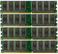 4GB (4x1GB) PC3200 DDR400 184pin DIMM Memory For AMD 939 A8N K8N Chipset