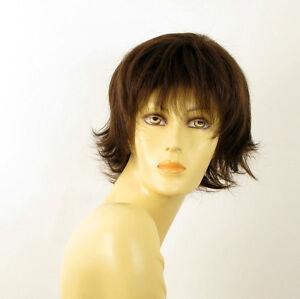 Perruque femme 100% cheveux naturel châtain ref OLIVIA 6