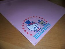 Sanrio Hello Kitty 2 sheets Paper Stationary Craft Scrapbooking circus teddy