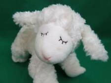 "GUND BABY WHITE ""WINKY"" LAMB / SHEEP RATTLE SOFT STUFFED PLUSH #58133 CRIB TOY"
