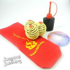 3 x Fyrefli Made with Kevlar 68mm Juggling Fire Balls & Free DVD deal
