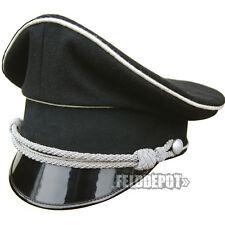 WX Elite Schirmmütze XX Offizier Allgemeine 57cm WGT Gothic schwarz Cap Black