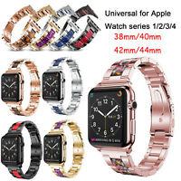 For Apple Watch iWatch 1 2 3 4 38/40/42/44mm Stainless Steel Strap Link Bracelet