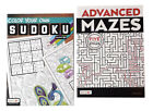 Advanced Mazes  Color In Sudoku Book Kids Adults Activity Books NEW Set of 2