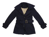 Topshop Womens Size 8 Wool Blend Blue Peacoat
