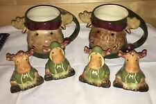 New listing 3D Moose Coffee Mug Heartland St Nicholas Square (2) Harry & David Salt & Pepper
