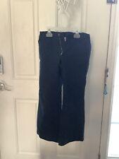 Vguc Lands End Girls Black Uniform Pants with Adjustable Waist - Size 7