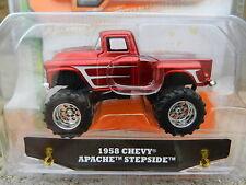 1:64 JADA TOYS *JUST TRUCKS 13* Red 1958 Chevy Apache Stepside Pickup *NIP*
