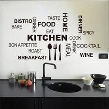 Cocina restaurante Café Bar Pared Adhesivo Decoración Hogar Sala Hágalo usted mismo extraíble