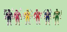 MMPR Bandai 8 Inch Power Rangers Figure LOT 1993 Red/Blu/Black/Green/Yellow/Pink