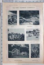 1915 Inde Imprimé Himalaya Stream Carting Timber Rura Burma Rue Acteurs