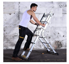 More details for aluminum folding combination extendable ladder scaffold heavy duty