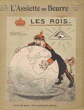 L'assiette au beurre 249 06/01/1906 Les rois Jean Villemot Noblesse Europe