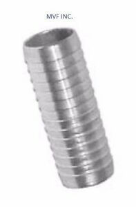 "1-1/2"" Hose Mender 304 Stainless (1-1/2"" ID Hose) Brewing Splicer <HF700830304"